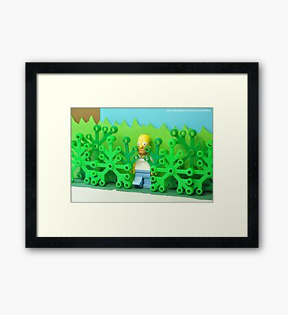 """Oh, not Flanders, anybody but Flanders…"" - © Homer Simpson Framed Print"