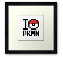 I Love PKMN Framed Print