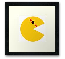Who Watches the Pacmen? Framed Print