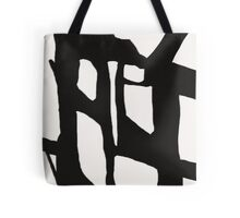 Abstract, Art, Abstract print, Black, White, Modern art, Wall decor Tote Bag