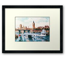 Flying Boat on the Thames Framed Print