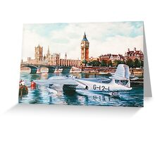 Flying Boat on the Thames Greeting Card