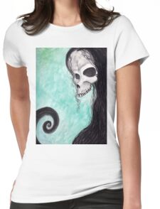 creepy skull Womens Fitted T-Shirt