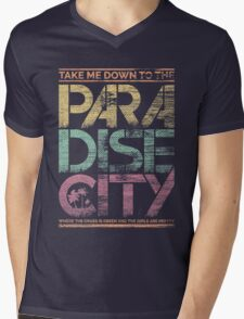 Paradise City Mens V-Neck T-Shirt