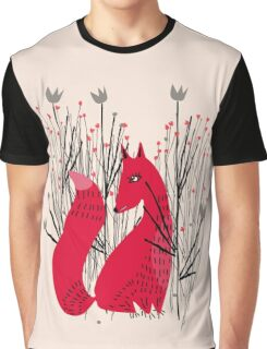 Fox in Shrub Graphic T-Shirt