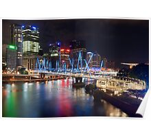 Kurilpa Bridge at Night Poster