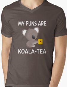 My Puns Are Koala-Tea Mens V-Neck T-Shirt