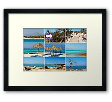 Photo collage with images of Chrissi Island, near Crete, Greece Framed Print