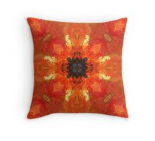 Abstract Art Fire Sunflower Throw Pillow