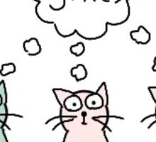 Yikes-judgemental cats Sticker