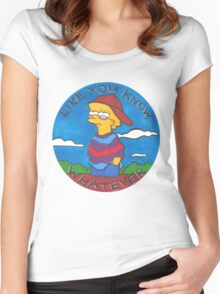 Colourful Cartoon Women's Fitted Scoop T-Shirt