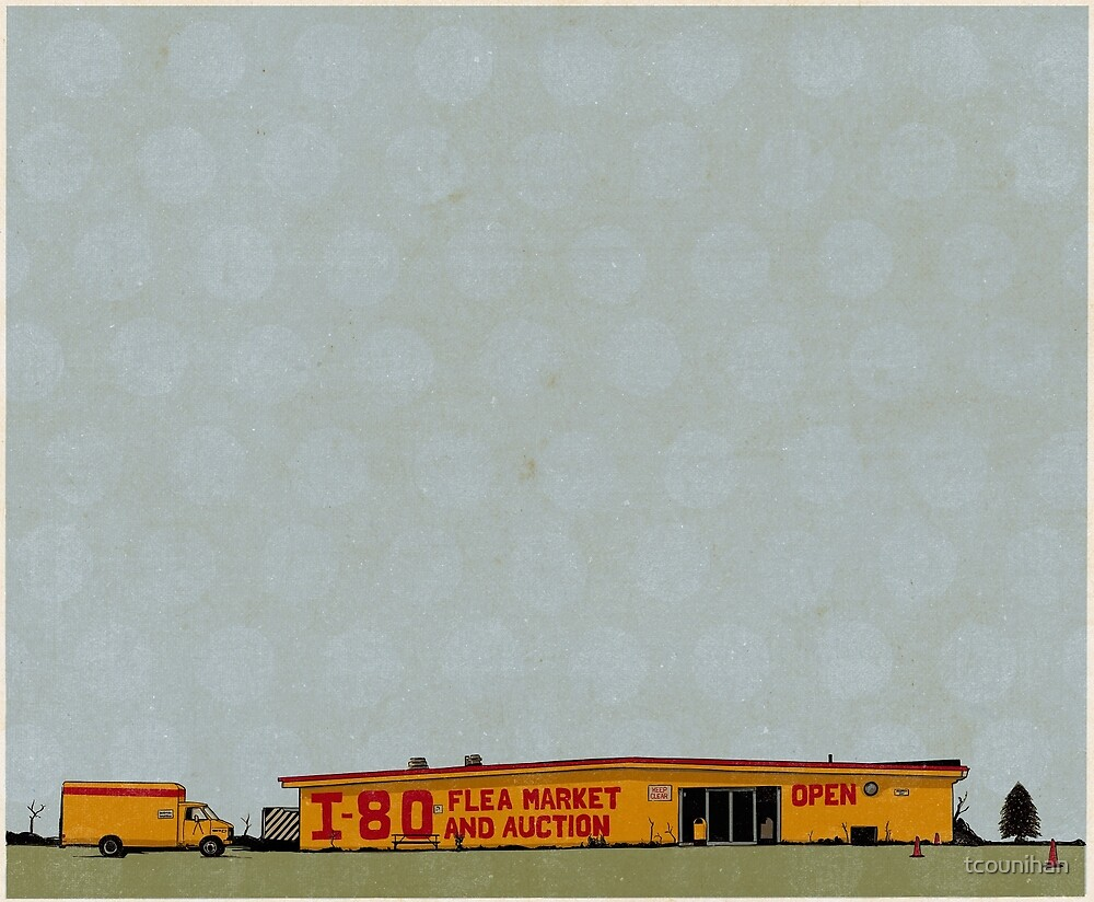 I-80 Flea Market Illustration by tcounihan