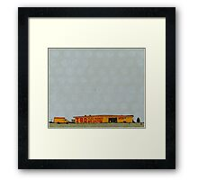 I-80 Flea Market Illustration Framed Print