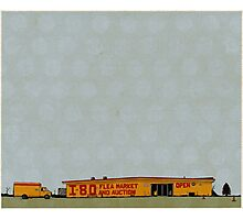 I-80 Flea Market Illustration Photographic Print