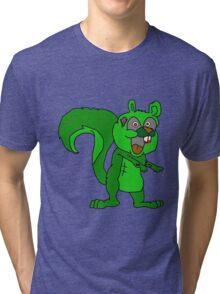 zombie squirrel  Tri-blend T-Shirt