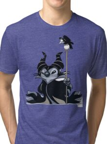 Maleficent Stitch Tri-blend T-Shirt