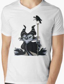 Maleficent Stitch Mens V-Neck T-Shirt