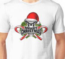 Santa Skull: Merry Christmas Unisex T-Shirt