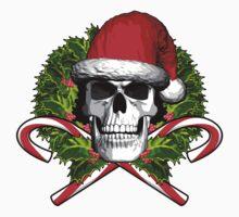 Santa Skull and Wreath Kids Tee