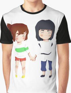 Spirited Away- Chihiro and Haku Graphic T-Shirt