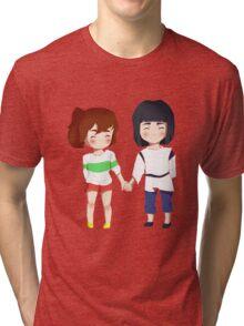 Spirited Away- Chihiro and Haku Tri-blend T-Shirt