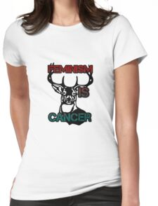 Anti-Feminism Stag Womens Fitted T-Shirt
