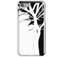 White Tree with Side Accent iPhone Case/Skin