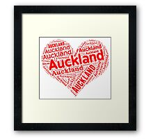 Auckland - Red Heart Framed Print