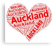 Auckland - Red Heart Canvas Print