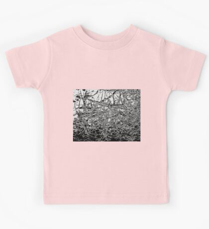Black and White abstraction, pattern Kids Tee