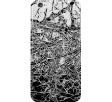 Black and White abstraction, pattern iPhone Case/Skin