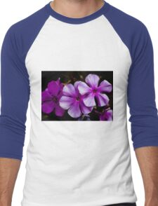 Purple Flowers Men's Baseball ¾ T-Shirt