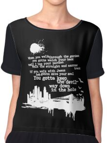 """Way Down In The Hole"""" - The Wire - Light Chiffon Top"""