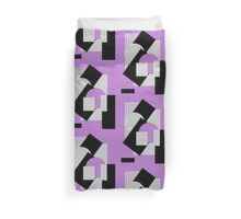 Geometrical abstract art deco mash-up gray purple Duvet Cover