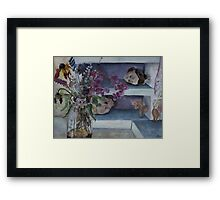 Two Heads with Bouquet Framed Print