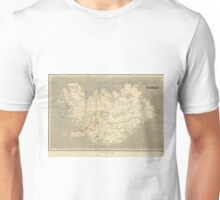 Vintage Map of Iceland (1819) Unisex T-Shirt