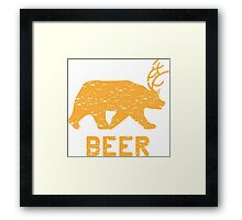 Bear + Deer = Beer Framed Print