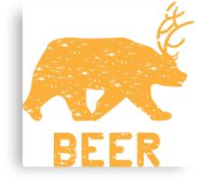Bear + Deer = Beer Canvas Print