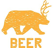 Bear + Deer = Beer Photographic Print