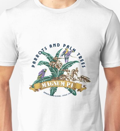 Parrots and Palm Trees Unisex T-Shirt