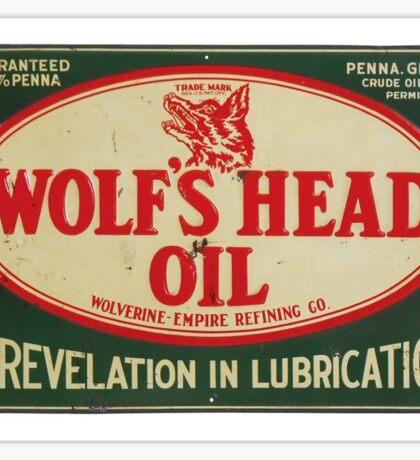 Vintage Motor Oil sign Sticker