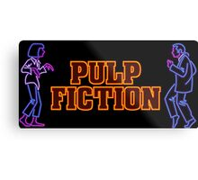 -TARANTINO- Pulp Fiction Neon Metal Print