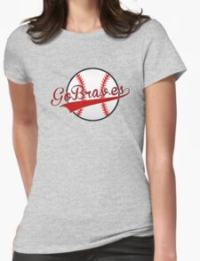 atlanta braves Womens Fitted T-Shirt
