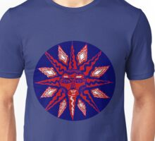 Red and Blue Star of Mariners Compass Unisex T-Shirt