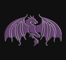 Tribal Dragon in Purple by JimmyGlenn Greenway