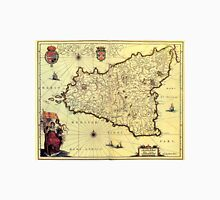 Vintage Map of Sicily Italy (1600s) Unisex T-Shirt