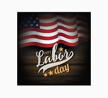 Labor Day wooden American flag design.  Unisex T-Shirt