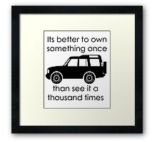 Discovery - Own IT Framed Print