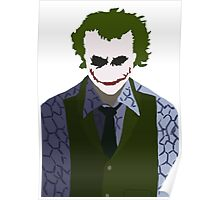 Joker Silhouette - Heath Poster