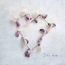 It's Love Wisteria Petals Heart by LouiseK